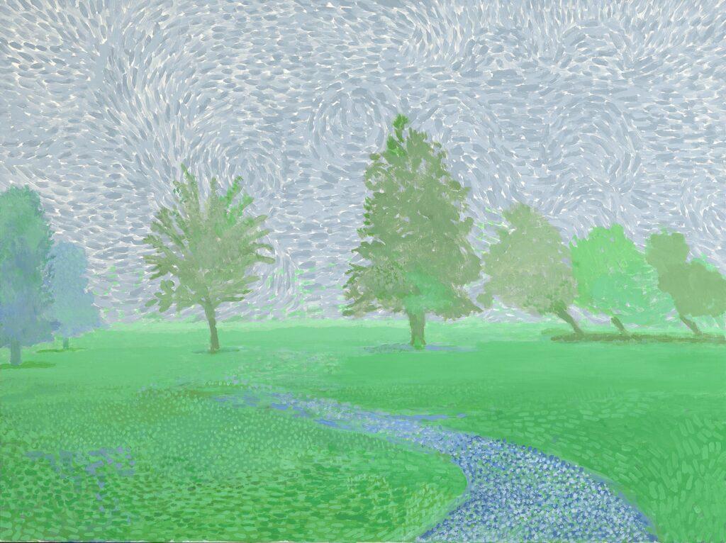 David Hockney, Trees Mist, 2019