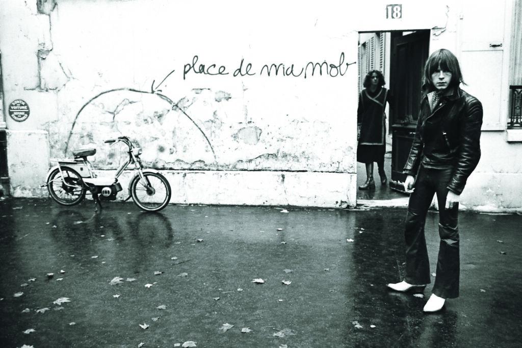 Prise de vue pour la pochette Laisse béton, 1977