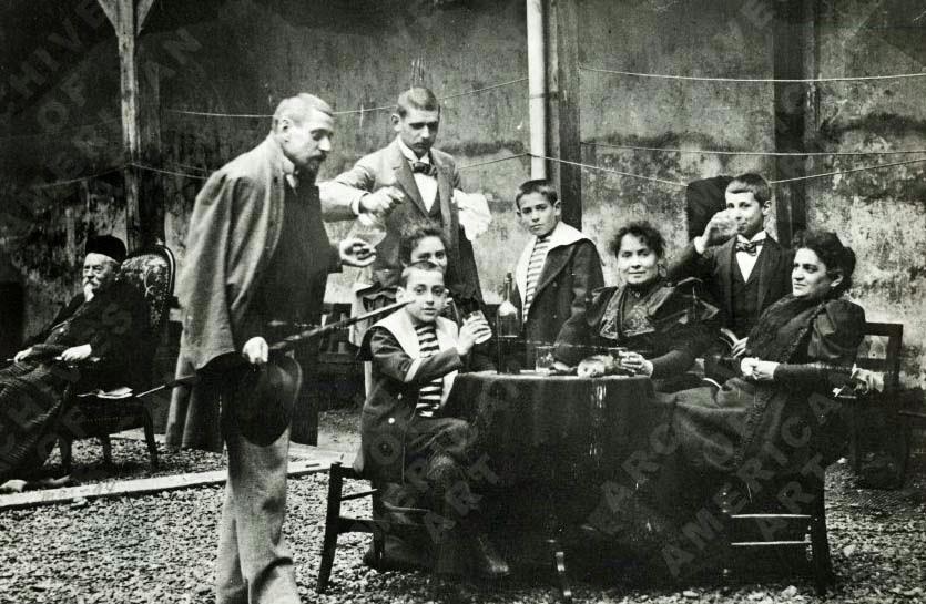 René Gimpel et sa famille