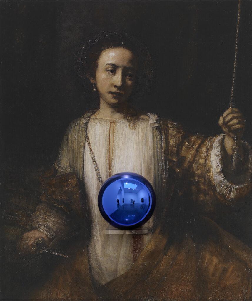 Jeff Koons, Gazing Ball (Rembrandt Lucretia), 2015