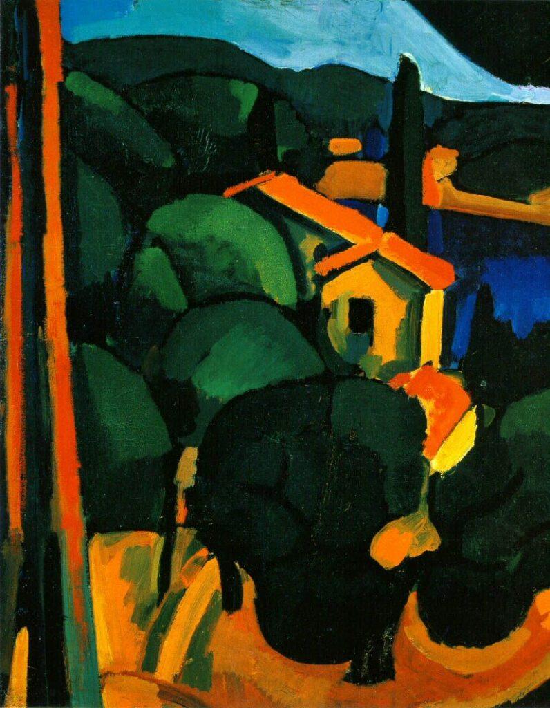 André Derain, Paysage à Cassis, 1907