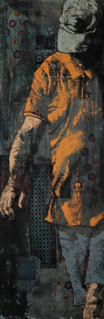 Virginie Delmas, Homme au polo orange