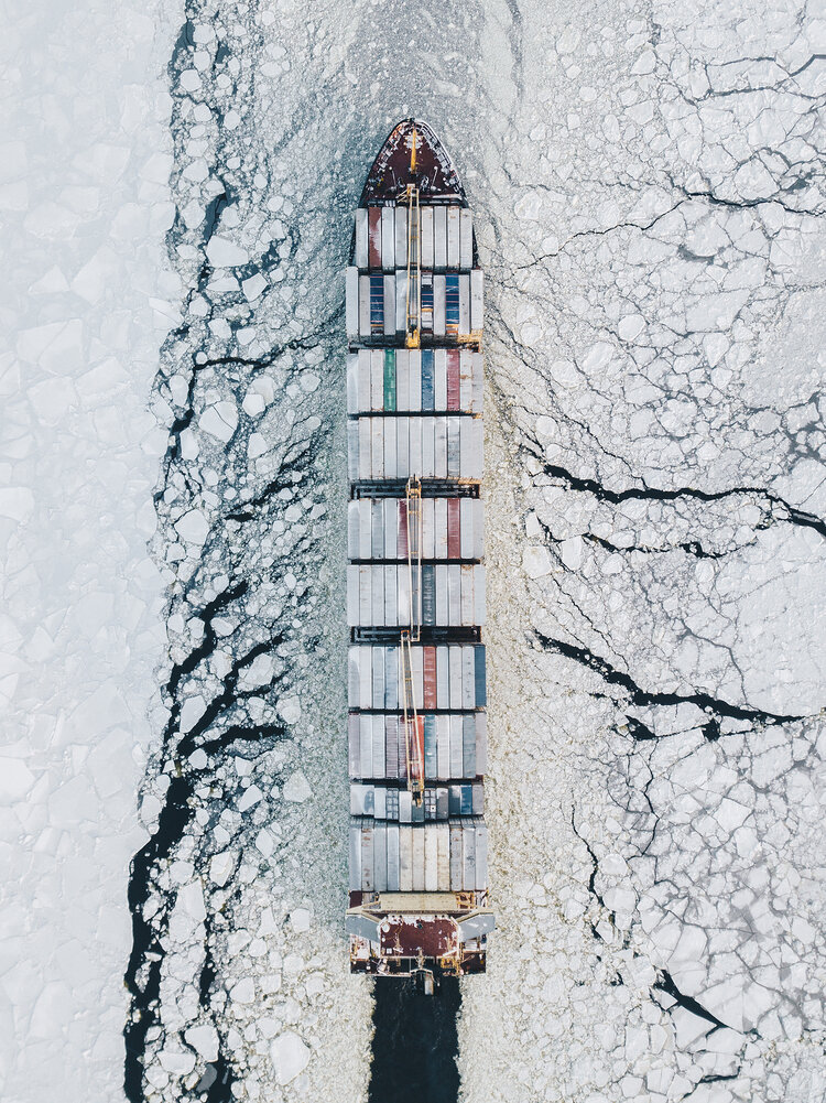 """1er prix """"Main de l'homme"""" (Transports) : Fairway du Golfe de Finlande"""