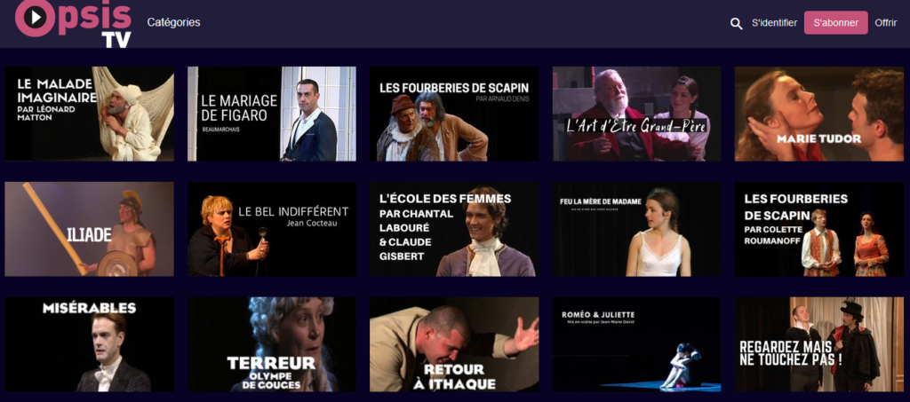 Capture d'écran Opsistv.com
