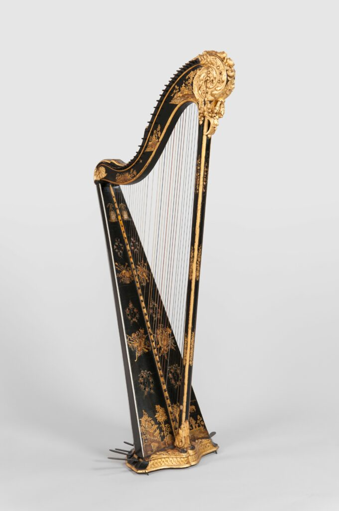 Harpe à pédales, 1749-1799