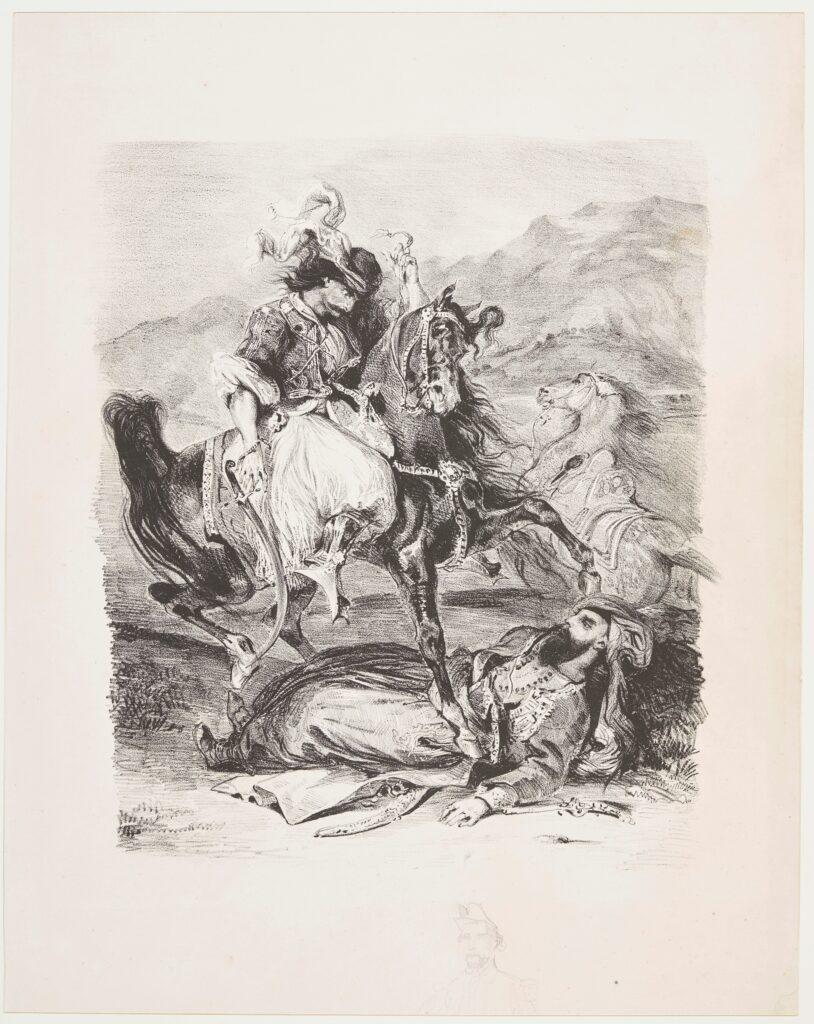 Eugène Delacroix, Le combat du Giaour et du Pacha, 1835