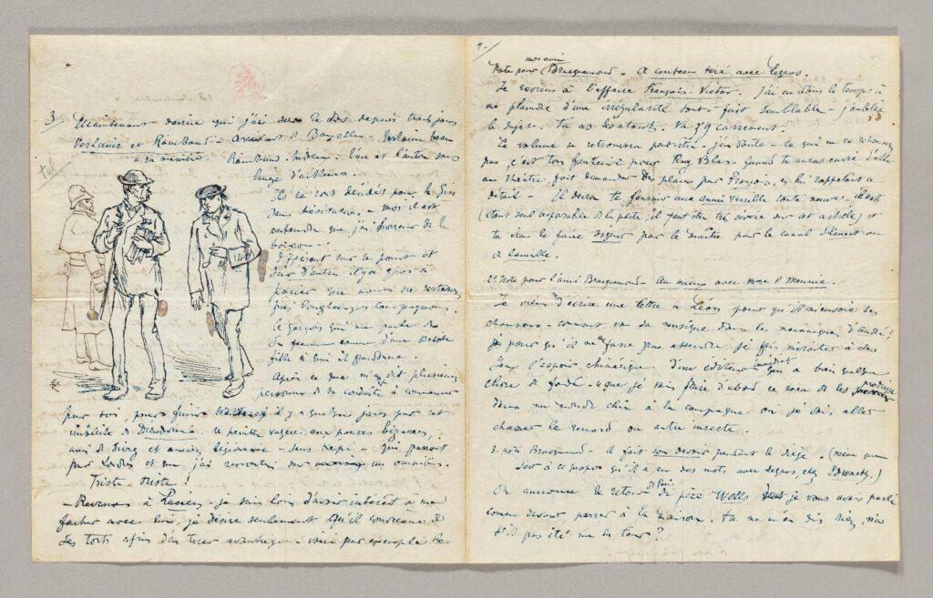Le dessin de Verlaine et Rimbaud, croqué par Félix Régamey