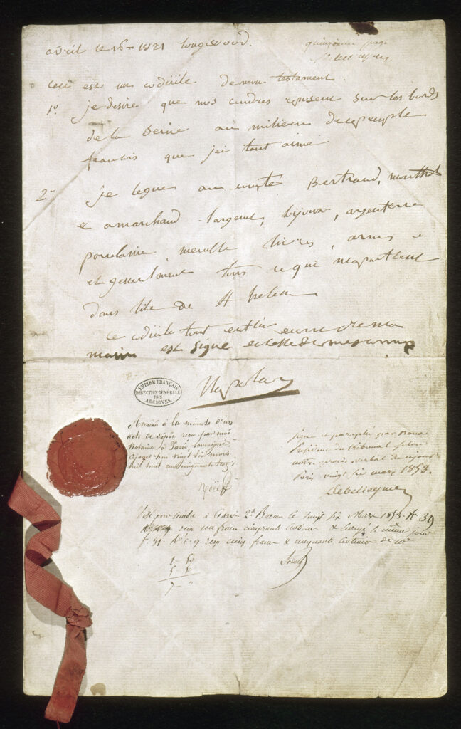 Testament de Napoléon Ier