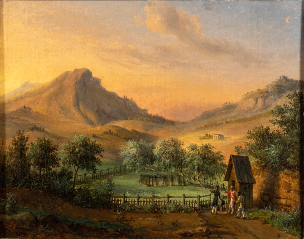 François Edme Ricois, Tombeau de Napoléon à Sainte Hélène dans la vallée du Géranium