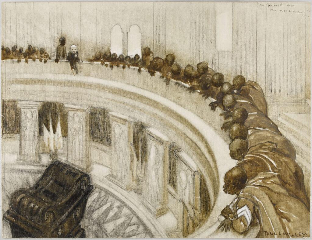 Paul Louis Lavalley, Visite des troupes sénégalaises au tombeau de Napoléon Ier