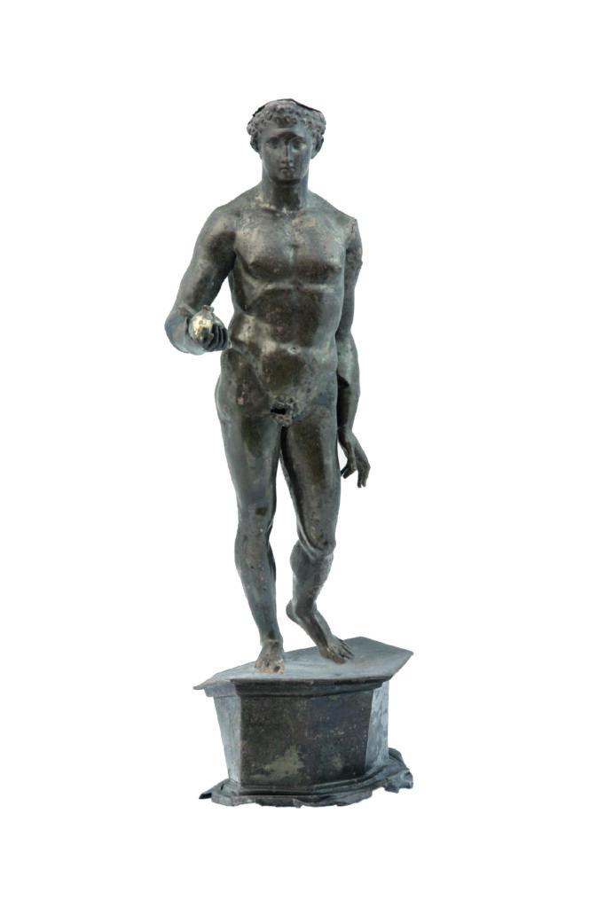 Statuette de Mercure, fosse sous le sol de la cella du Fanum 4