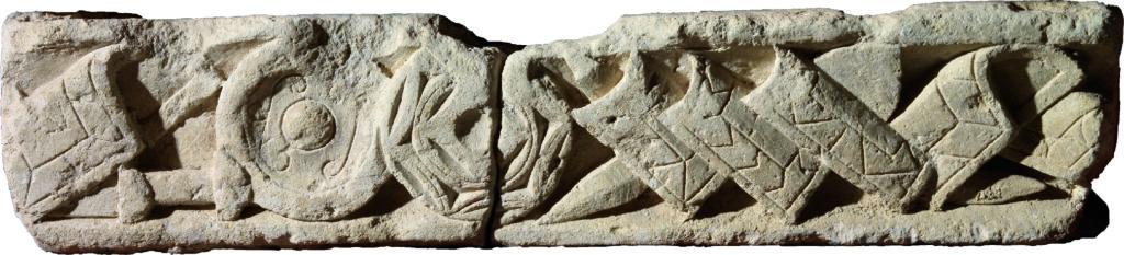 Frise d'armes , calcaire, Ier siècle, Musée des Antiquités, Rouen