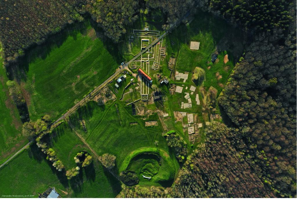 Vuee aérienne du site de Briga