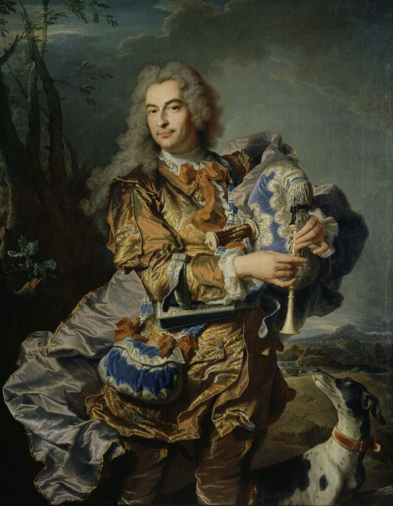 Portrait du président Gaspard de Gueidan en joueur de musette, Hyacinthe Rigaud, 1734-1738