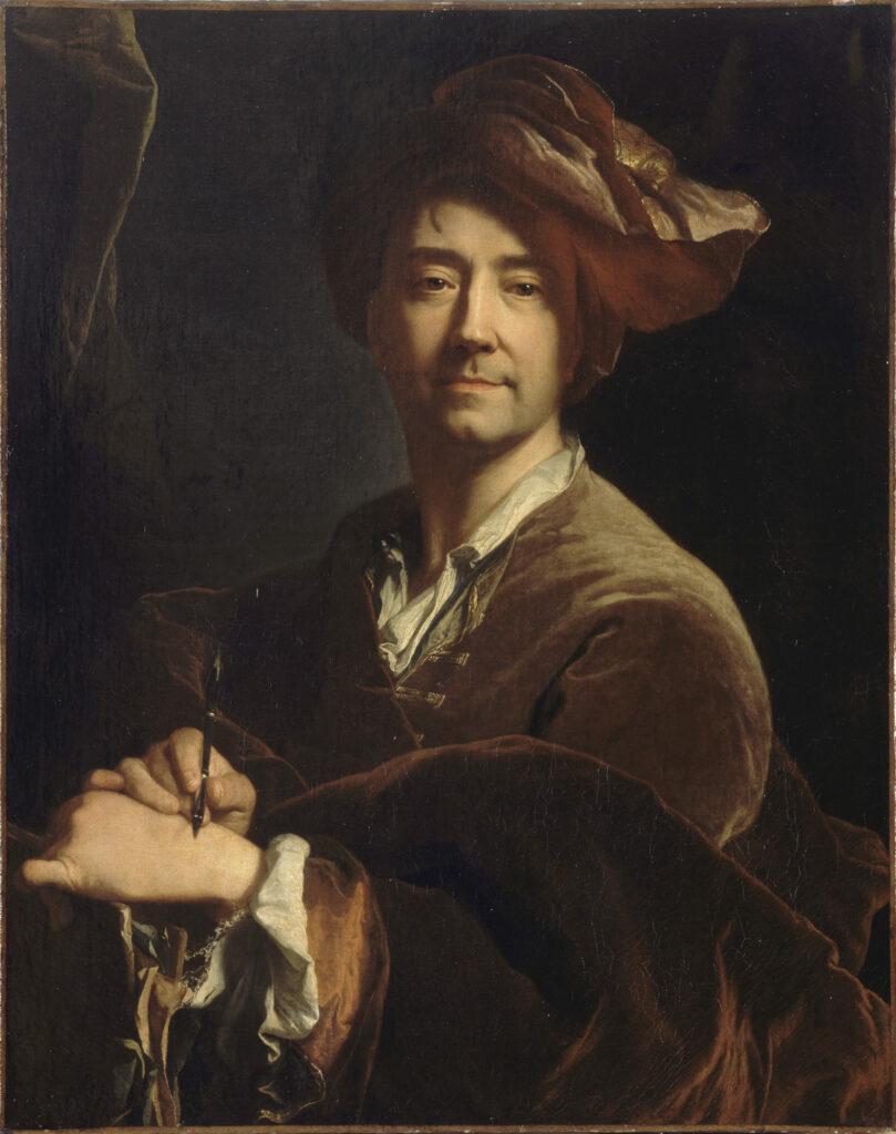 Autoportrait dit au porte-mine Hyacinthe Rigaud, 1711