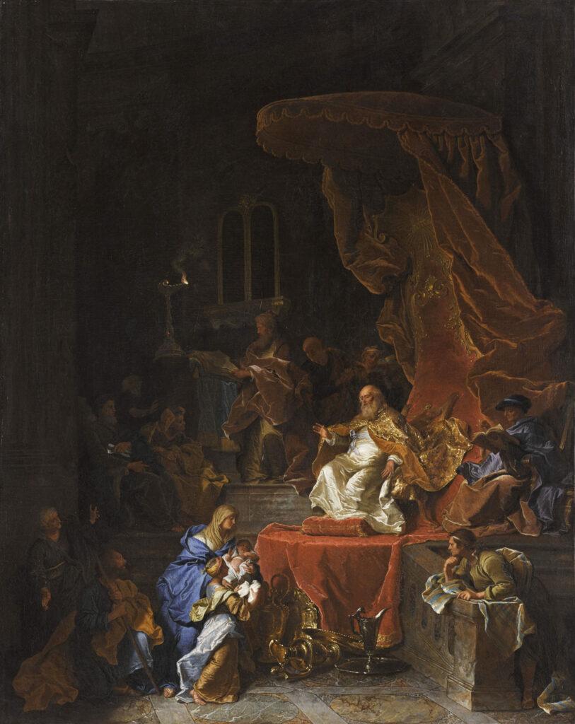 La présentation au temple, Hyacinthe Rigaud, 1726-1743
