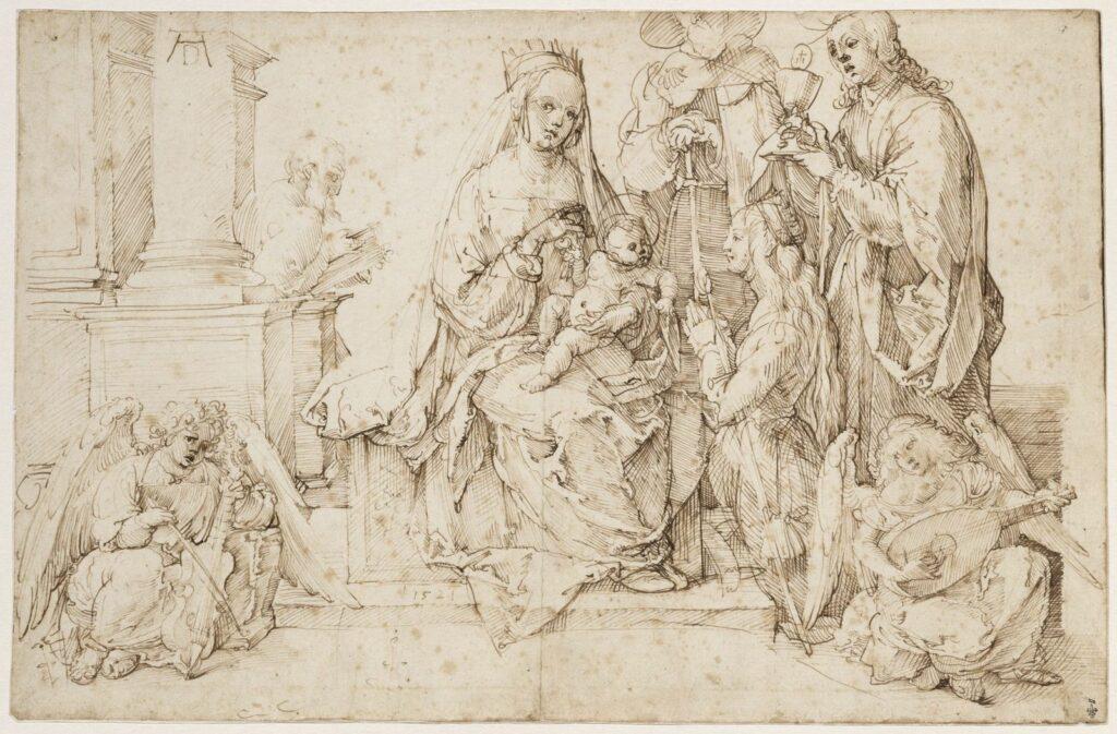 Albrecht Dürer, Vierge à l'Enfant entourée d'anges et de saints, 1521