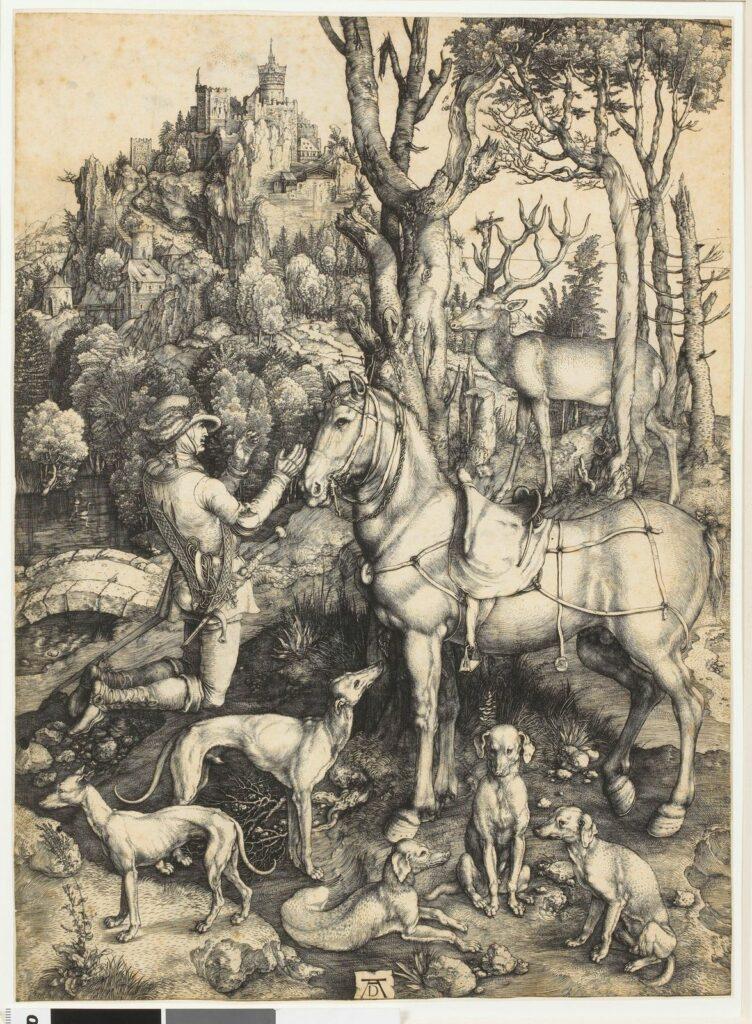 Albrecht Dürer, Saint Eustache, vers 1501