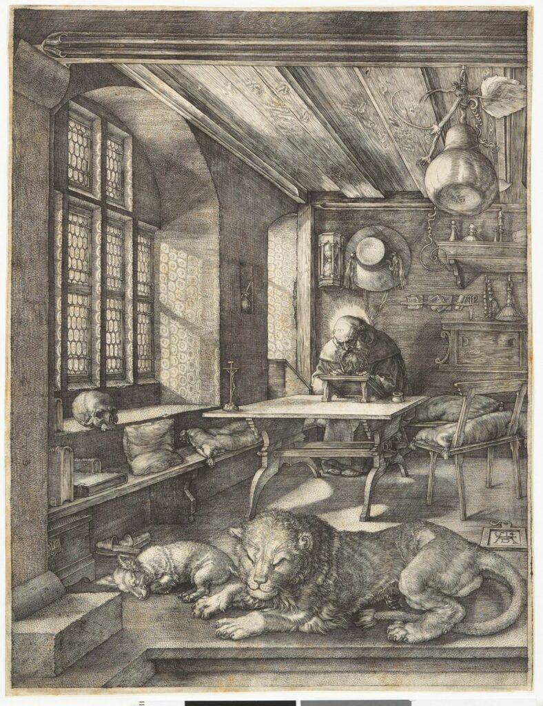 Albrecht Dürer, Saint Jérôme dans sa cellule, 1514