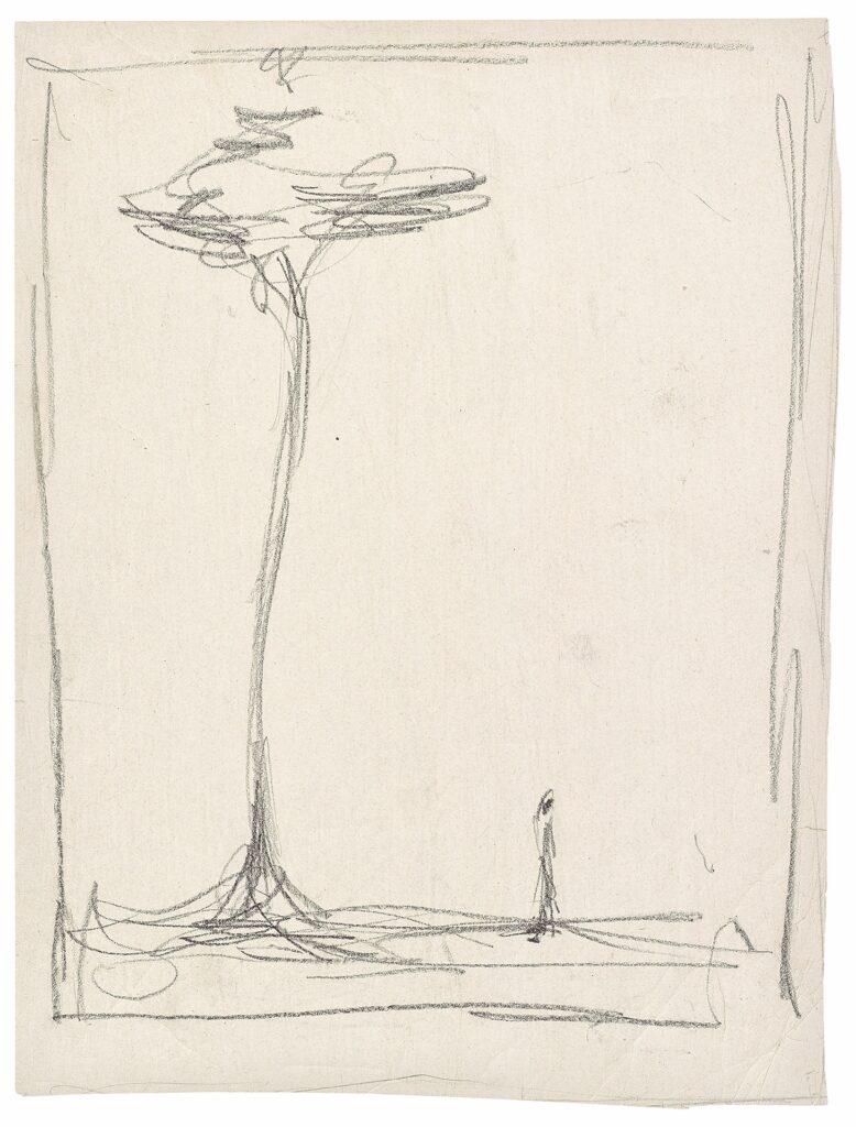 Alberto Giacometti, Homme et arbre,1952