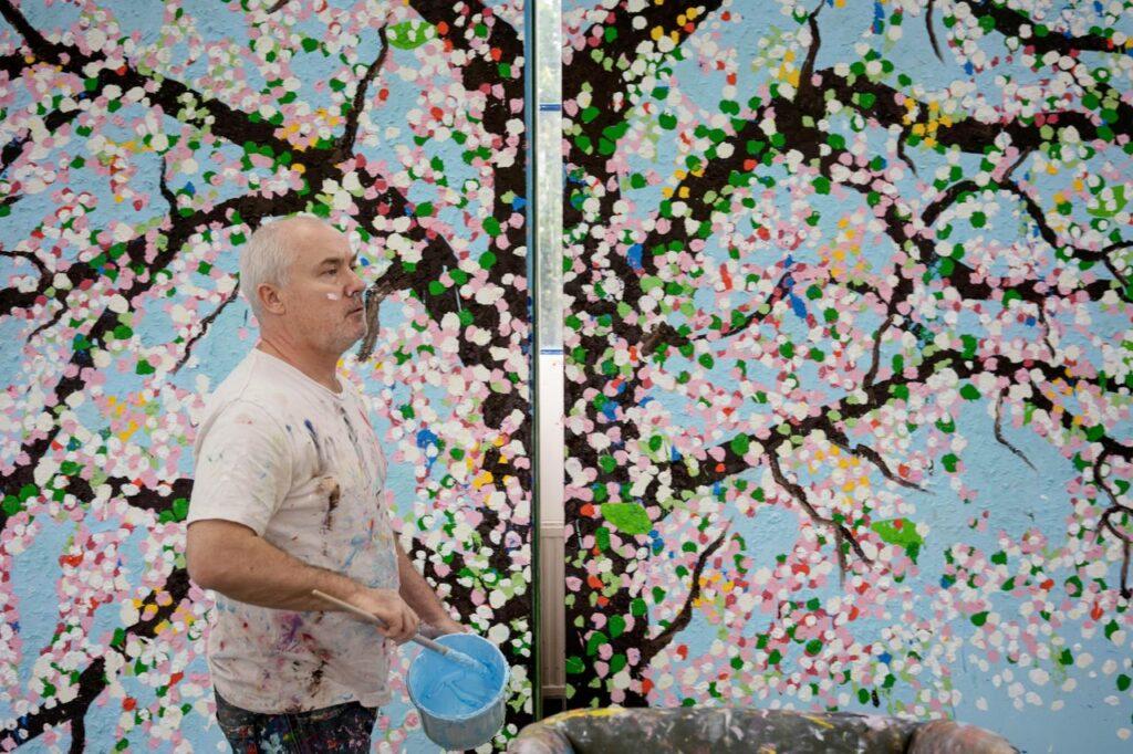 Damien Hirst dans son studio, 2019