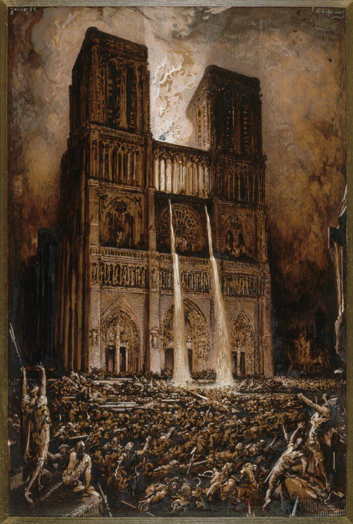 Francois-Nicolas Chifflart (1825-1901), Attaque de Notre-Dame, vers 1876-1877