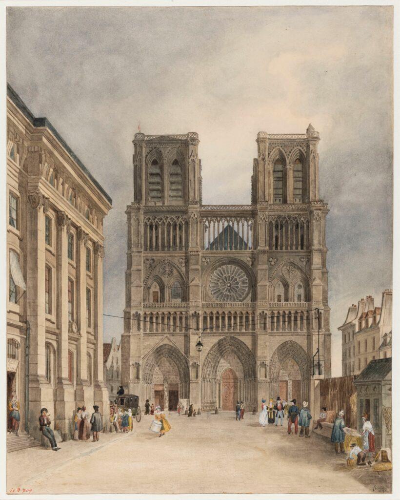 Charles Fréchot (1793-1858), Le Parvis de Notre-Dame