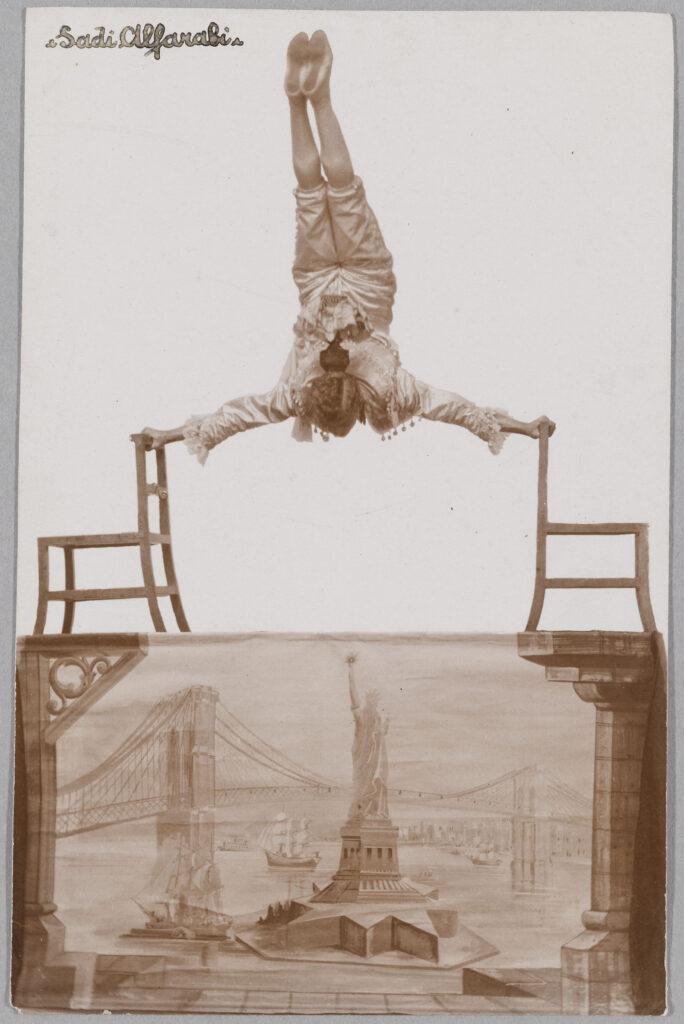 Acrobate, Sadi Alfarabi. 1 er quart du XXe siècle