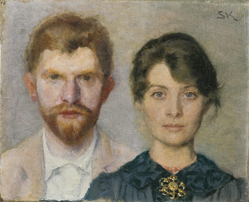 Marie Krøyer et Peder Severin Krøyer, Double portrait de Marie et Peder Severin Krøyer, 1890