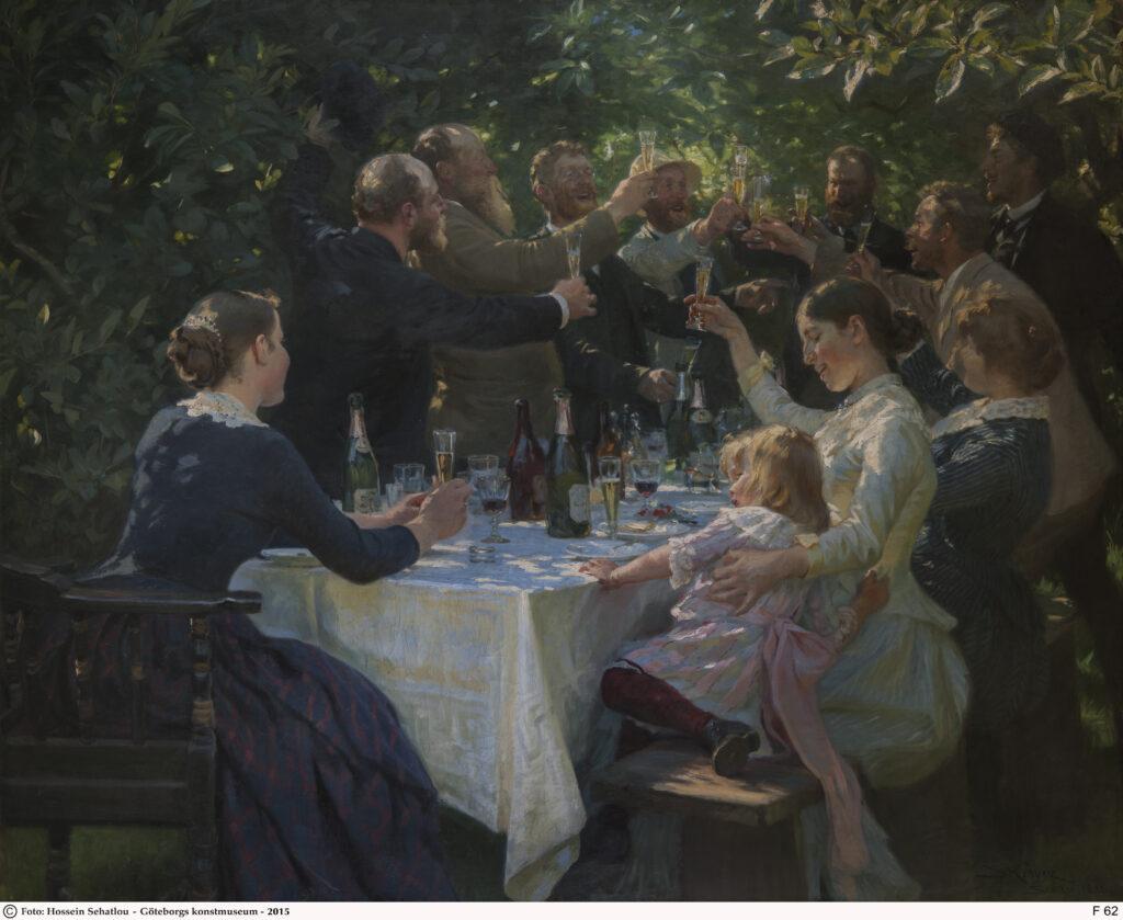 Peder Severin Krøyer, Hip, hip, hip, hourra !, 1888