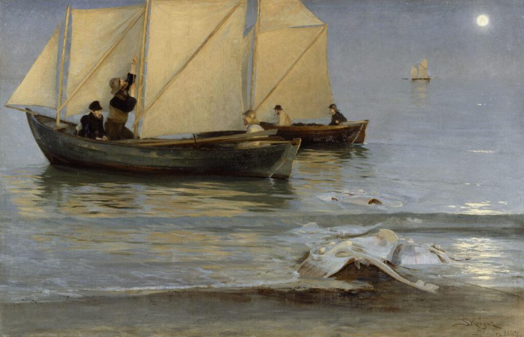 Peder Severin Krøyer Bateaux de pêche 1884