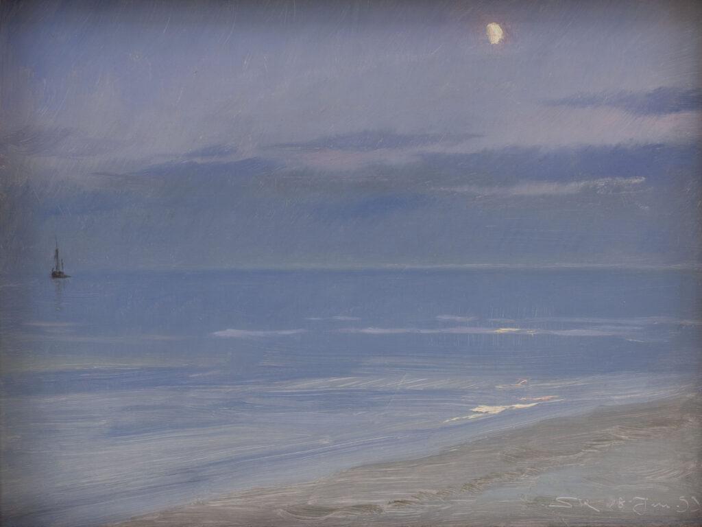Peder Severin Krøyer, Måneskin ved Skagen Strand, 1899