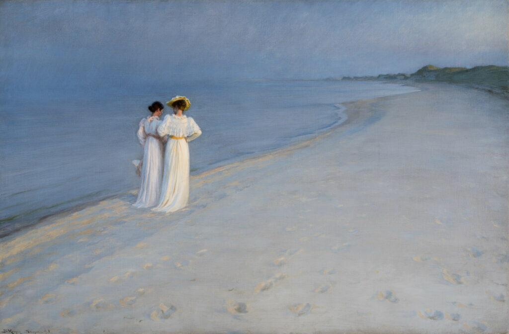 Peder Severin Krøyer, Soirée calme sur la plage de Skagen, Sønderstrand, 1893