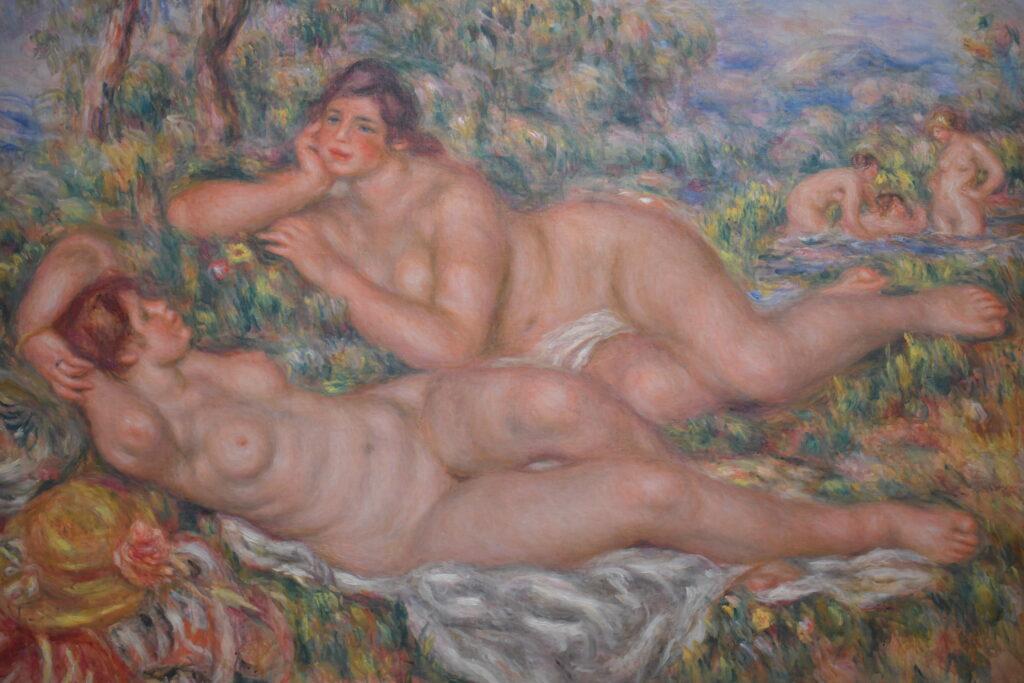 Vue de l'exposition Magritte / Renoir Musée de l'Orangerie