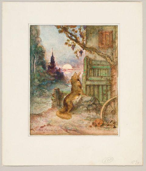 Gustave Moreau, Le renard et les raisins, 1881-1884