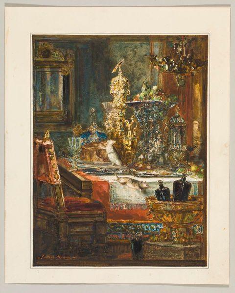 Gustave Moreau, Le rat des villes et le rat des champs, 1879