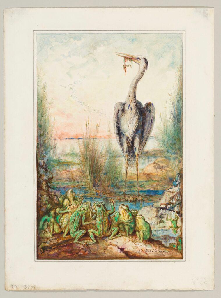 Gustave Moreau, Les grenouilles qui demandent un roi, 1881
