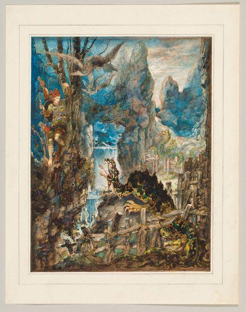 Gustave Moreau, Le Dragon à plusieurs tetes et le Dragon à plusieurs queues, 1879-1881