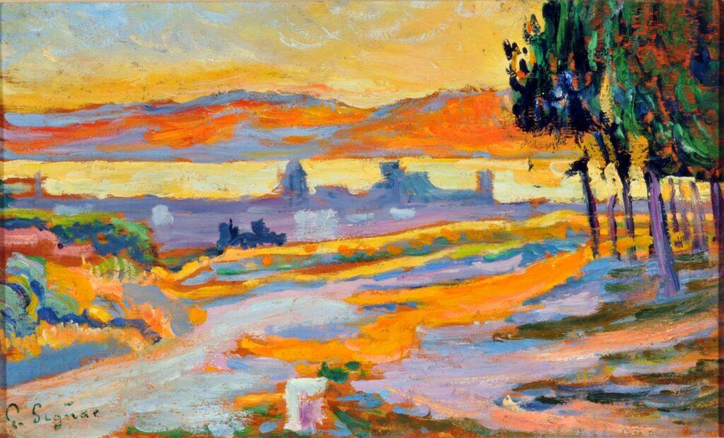 Paul Signac, Soleil couchant sur la ville de Saint Tropez, 1892