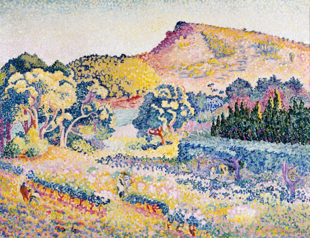 Paul Signac, Paysage avec le cap Nègre, 1906