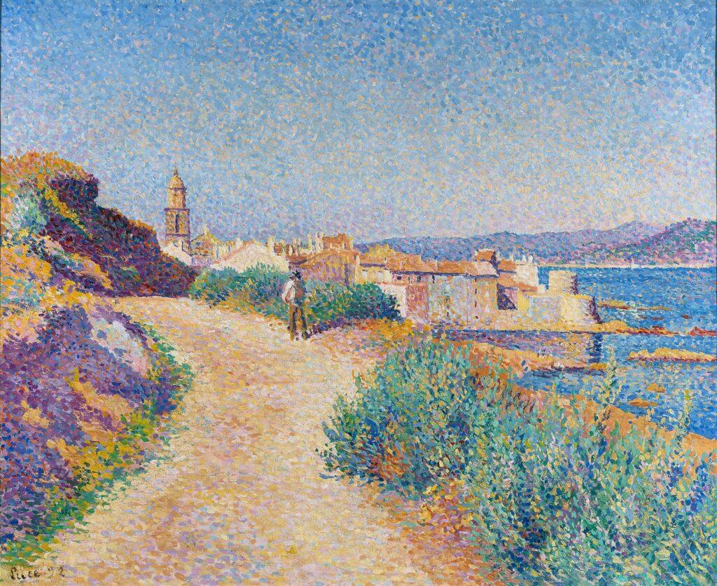 Paul Signac, Saint Tropez, la route du cimetière, 1892