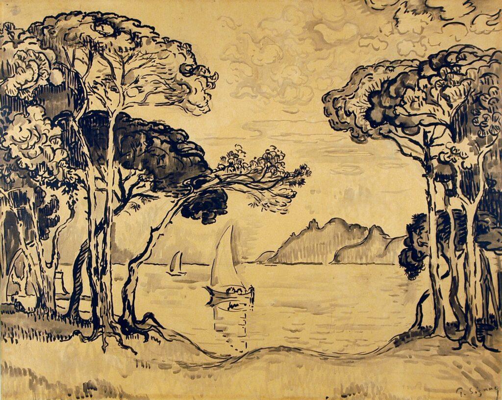 Paul Signac, Juan les Pins, Soir, 1914