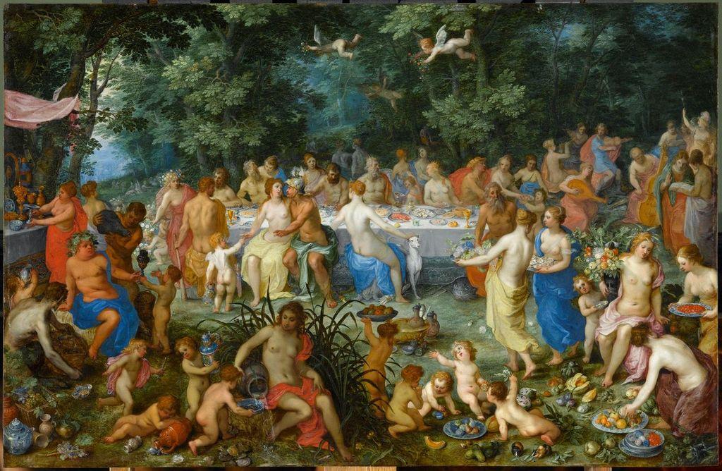 Hendrick van Balen, Brueghel de Velours, Les Noces de Thétis et de Pélée avec Apollon et le concert des Muses