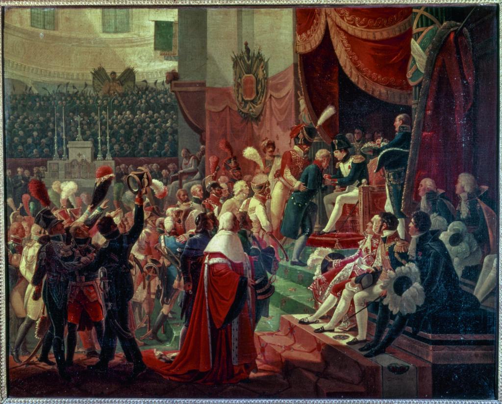 Jean-Baptiste Debret, La première distribution de la légion d'honneur dans l'Eglise des Invalides, 14 juillet 18034