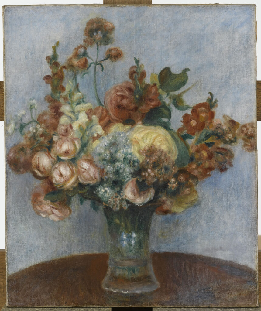 Renoir, Fleurs dans un vase, vers 1896-1898