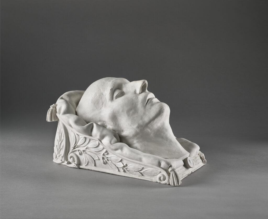 Masque en plâtre de l'Empereur Napoléon, souscription Antommarchi, 1833