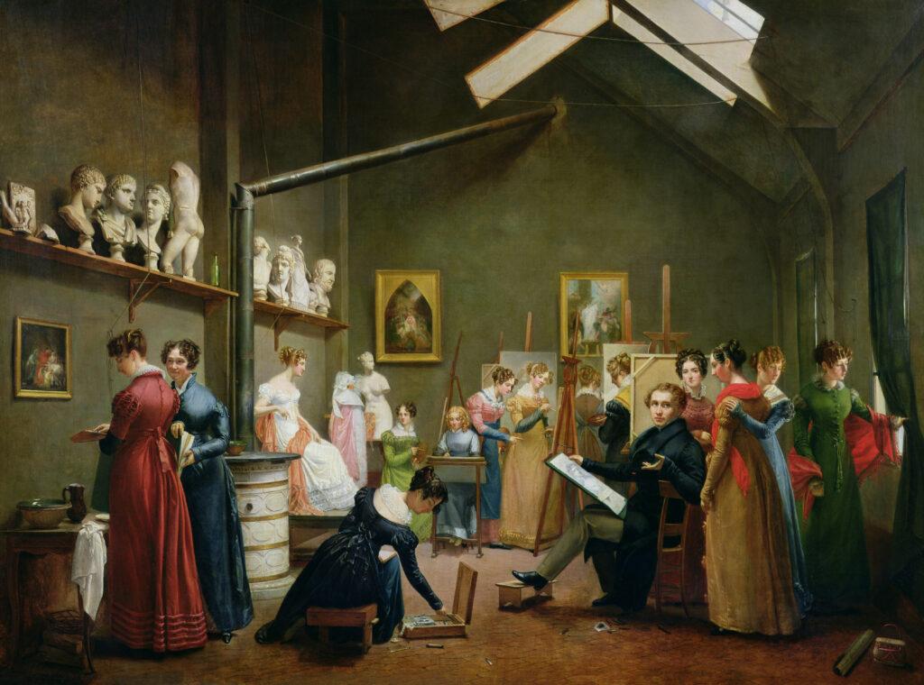 Adrienne Marie Louise Grandpierre Deverzy, L'Atelier d'Abel de Pujol, 1822