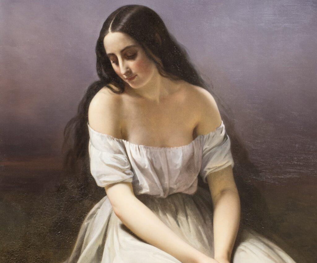 Aimée Brune, Une jeune fille à genoux, 1839