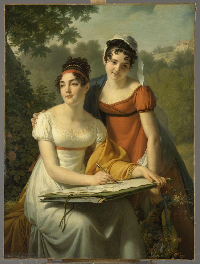 Augustin Pajou, Portraits de Mesdemoiselles Duval, 1er quart 19ème