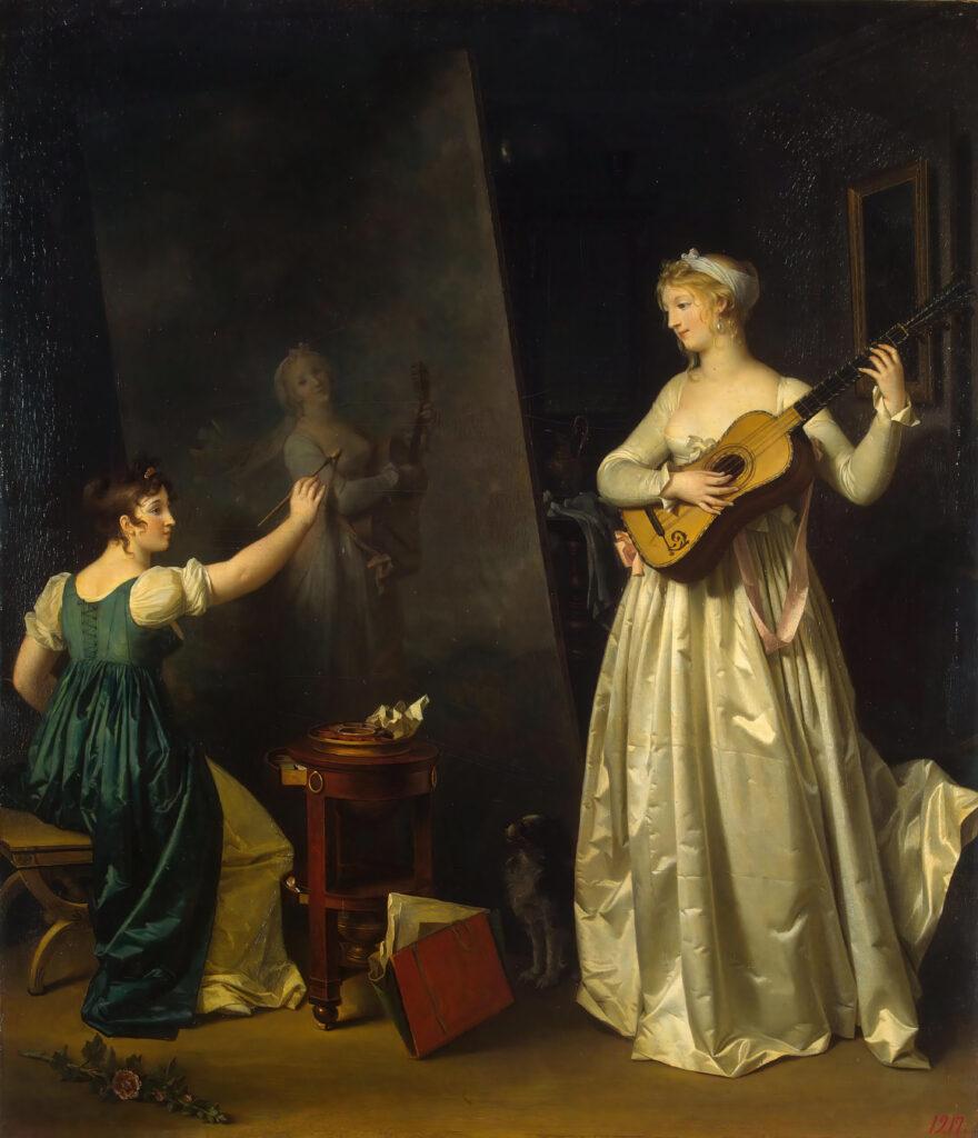 Marguerite Gérard, Artiste peignant le portrait d'une musicienne, vers 1800